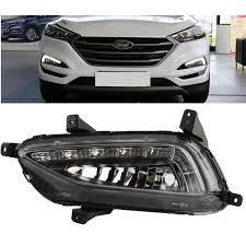 Car Styling 2Pcs White Daytime Running Light DRL LED Fog Lamp For Hyundai  Tucson 2016 2017