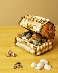 shell craft treasure box
