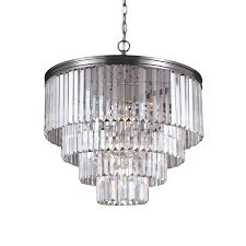 pretty inspiration brushed nickel crystal chandelier 22