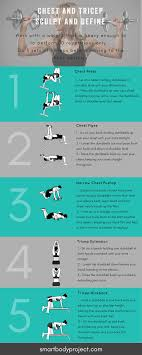 chest and tricep db workout through free resources and s