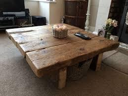 Beautiful Reclaimed Pine Coffee Table   Rustic Furniture,railway Sleeper,oak,shabby  Chic Great Ideas