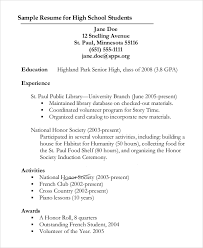 resume outlines sample resume outline 8 examples in pdf word