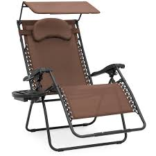 best choice s oversized zero gravity reclining lounge patio chairs w folding canopy shade and