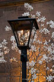 gas lamp on the street in new york city