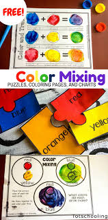 These free printable preschool coloring pages include 5 pictures of cute cartoon character explains how to see, touch, smell, taste and hear to help kids know about their 5 senses. Color Mixing Activity Pack Totschooling Toddler Preschool Kindergarten Educational Printables