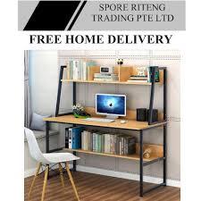long home office desk. Study Desk - Multi Storage / Book Shelves Long Home Office