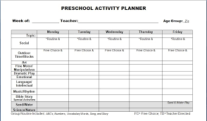 Printable Lesson Plan Templates For Preschool Lesson Organizer