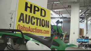 Evidence Seized By Honolulu Police Up For Auction