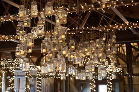 picture of mason jar candle chandeliers