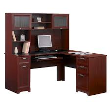 corner office desk with hutch. Classic L Shaped Desk Corner Office With Hutch W
