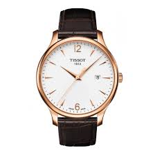 tradition men s rose gold pvd brown leather strap watch tissot tradition men s rose gold pvd brown leather strap watch