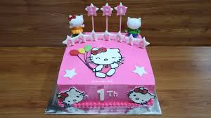 Tanpa Spuit Cara Membuat Kue Ulang Tahun Hello Kitty Cake Tart