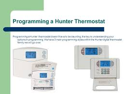 hunter thermostat training ppt programming a hunter thermostat