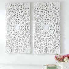 distressed white wood wall art