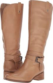naturalizer women s dev wc riding boot oatmeal leather size 6 5 0