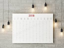 planning calendar template 2018 year wall planner horizontal calendar template 2018