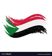 Sudan Design National Flag Of Sudan Designed Using Brush