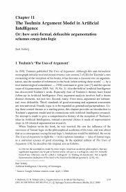 the toulmin argument model in artificial intelligence springer inside