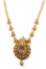 Gold Long Necklace Designs In 35 Grams Buy Sukra Gold 1 Gram Micro Gold Plated Traditional Designer