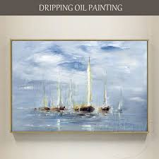 excellent artist hand painted high quality seascape boat oil painting on canvas modern wall art on boat wall art with excellent artist hand painted high quality seascape boat oil