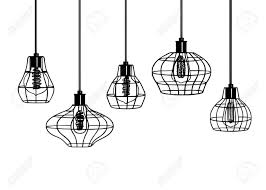 industrial style pendant lighting. Industrial Style Retro Pendant Lights. Set Of Vintage Lamps. Hanging Lamp With Edison Lighting C