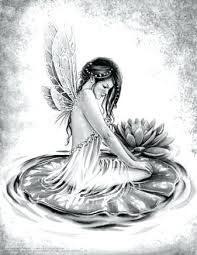 Coloring Pages Fairy Coloring Book In Grayscale Enchanted Home