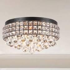 flush mount crystal chandelier. Flush Mount Crystal Chandelier D