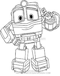 Disegno Di Alf Di Robot Trains Da Colorare