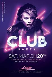Club Party Flyer Templates Psd Graphic Design Flyer Party
