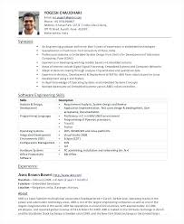 Resume Format For Experienced Software Developer Experienced