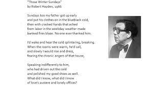those winter sundays essay those winter sundays by robert hayden essay by