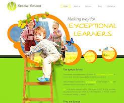 Template School Children Website With Homepage Image Slideshow ...