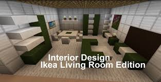 Minecraft Living Room Designs Minecraft Interior Design Living Room Ikea Edition Minecraft