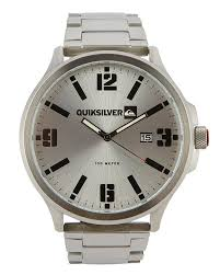 quiksilver beluka ss watch polished silver black surfstitch polished silver black mens accessories quiksilver watches hqm154bfskto