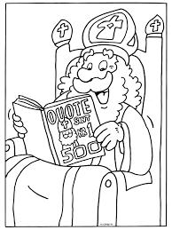 Kleurplaat Sinterklaas In De Quote 500 Kleurplatennl