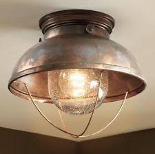 primitive bathroom lighting. rustic light fixture primitive decor copper ceiling flush mount lighting bathroom