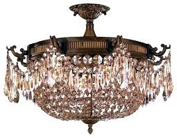 crystal semi flush mount chandelier awesome to do semi flush mount crystal chandelier lighting home design