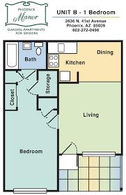 1 Bedroom Apartment: Unit B 1.