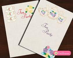 Tea Invitations Printable Free Printable Tea Party Invitations