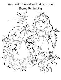 Kleurplaat Dora Sneeuwprinses 8435 Kleurplaten