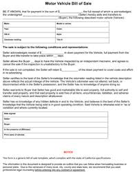 California Bill Of Sale Form 8ws Templates Forms