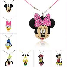 <b>1pcs</b> Mickey Kawaii <b>Cartoon PVC</b> Charm <b>Pendant Necklace</b> Minnie ...