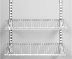 wire shelving system professional rubbermaid homefree series 4 ft adjule mount wire shelving kits