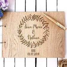 <b>Wedding guest</b> book | <b>personalised wreath</b> rustic guestbook for ...