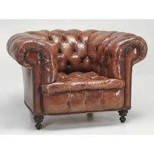 antique chesterfield chair in original leather