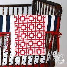 navy blue red stars stripes americana baby boy crib bedding