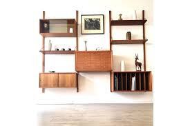 danish teak cado wall modular shelving unit desk royal system by poul cadovious vinterior