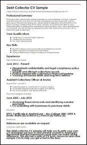 Legal Collector Sample Resume Enchanting Bank Collector Sample Resume Colbroco