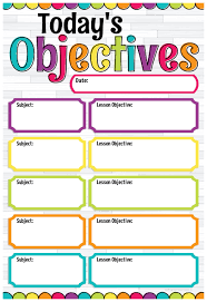 Diy Dots Todays Objectives Smart Chart Top Notch Teacher