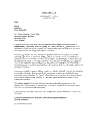 Samples Of Appointment Letter For An Employee Business Appointment Letter This Letter Is Used In Any Business